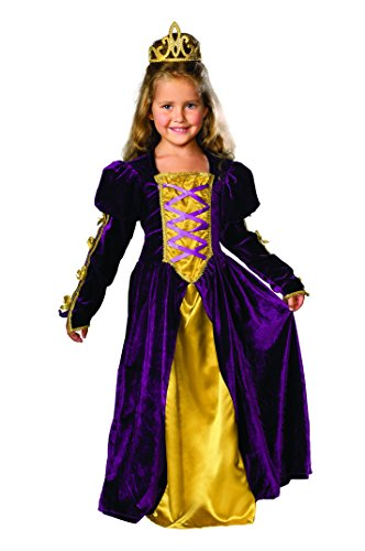 [Child's Regal Queen Costume, Large] (Toddler Renaissance Costumes)