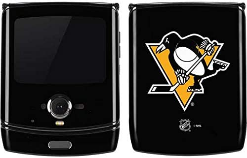 Amazon Com Skinit Decal Phone Skin For Motorola Razr Officially Licensed Nhl Pittsburgh Penguins Solid Background Design Electronics
