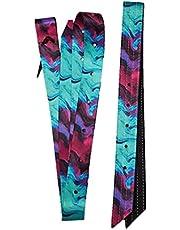 2 pc Tie Dye Color Nylon Cinch Strap-Off Billet Saddle Set