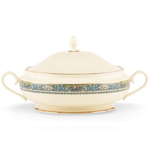 Lenox Autumn Covered Vegetable Bowl (Round White Vegetable Covered Bowl)