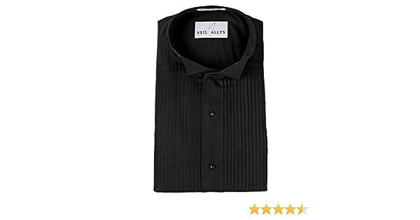 "New White Wing Tip Collar 1//4/"" Pleat Tuxedo Shirt Poly//Cotton Size 14.50 X 34//35"
