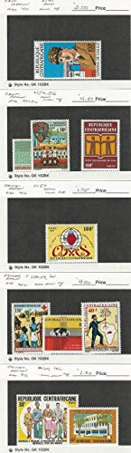Central Africa, Postage Stamp, 141//162 Mint NH & LH, 1971-72, JFZ