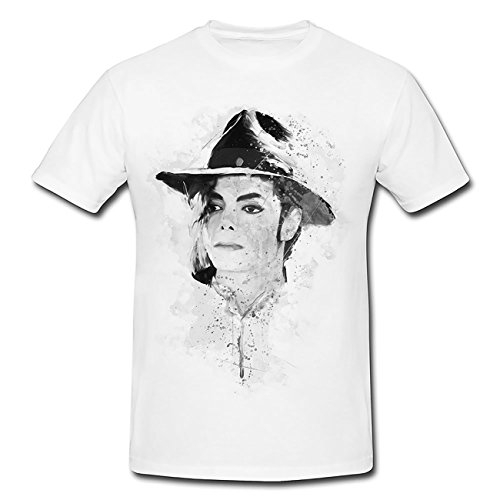 Michael Jackson I T-Shirt Herren, weiß mit Aufdruck