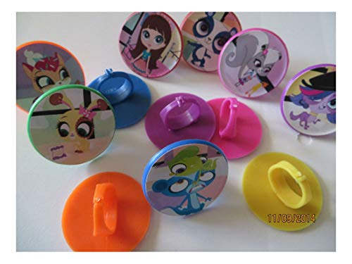 Littlest Pet Shop Cupcake Toppers (12pcs Cute Cake cupcake toppers birthday party favor pinata loot bag Gift (Littlest Pet)