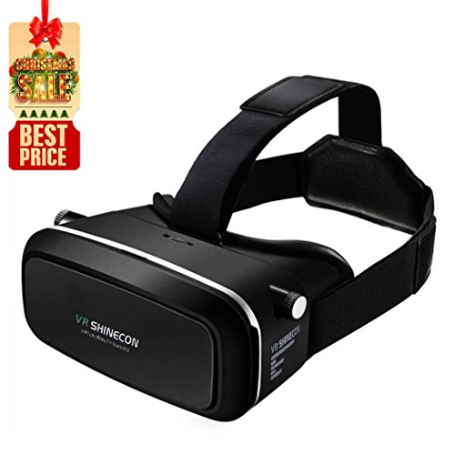 Click to buy TweakCube 3D VR Headset Virtual Reality Glasses for VR Movies and Games, Apply to 4.7-6.0 inch iPhone and Android Smartphone (Black) - From only $19.99