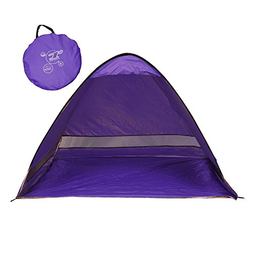 "SunnyRoyal Automatic Pop Up Tent,2-3 Person Beach Cabana Tents for Camping Fishing Picnic Portable Outdoor UV Protection Beach Tent Sun Shelter Beach Shade for Baby 78.7""×47.3""×51"" - Shades Shutter Custom"