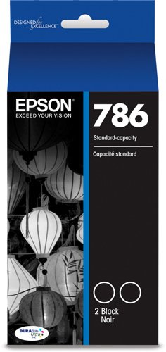 Epson DURABrite Ultra Standard-Capacity Ink Cartridge, Dual Black (T786120-D2)