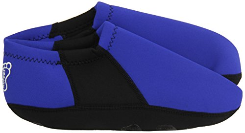 NuFoot Booties Men's Shoes, Best Foldable & Flexible Footwear, Fold and Go Travel Shoes, Yoga Socks, Indoor Shoes, Slippers, Royal with Black Stripe, Extra Large by Nufoot