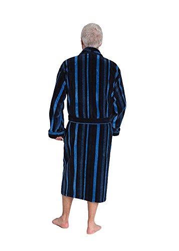 Gestreifter Velours-Bademantel aus reiner ägyptischer Baumwolle, Herren