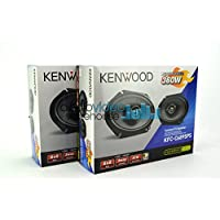 2 pair Kenwood KFC-C6895PS 6x8 Performance Series 3-Way Custom Fit Coaxial Car Speakers (4 speakers)