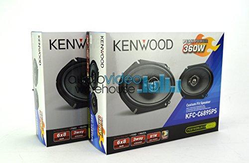 Custom Fit Car Speakers - 2 Pair Kenwood KFC-C6895PS 6