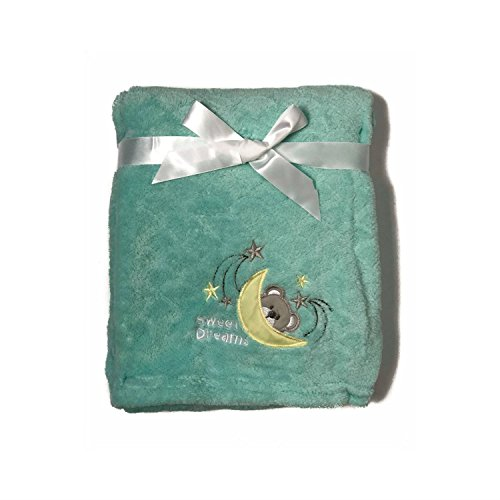 (Luxurious Cozy Premium Super Soft 30 x 40 Fleece Throw Baby Blanket for Strollers, Car Seats, Kids Bed & Pets (Sweet Dreams))