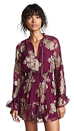 Hemant and Nandita Women's Short Dress, Maroon, Medium