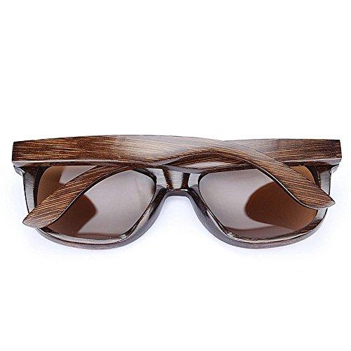 polarisées lunettes lunettes conduite de lunettes de la à lunettes Marron soleil cadre pour de de charnière en bambou hommes environnement protection soleil soleil Rétro soleil plage UV main printemps 6zZ4xwH
