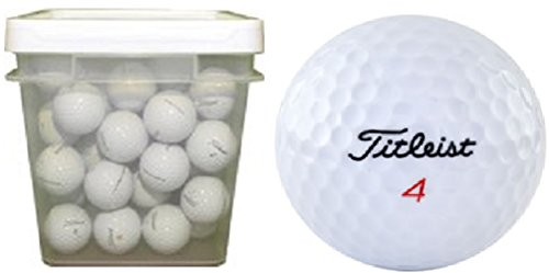 100% Bucket Recycled Plastic - Titleist Mix Assorted Recycled Golf Balls (100-Ball Bucket)