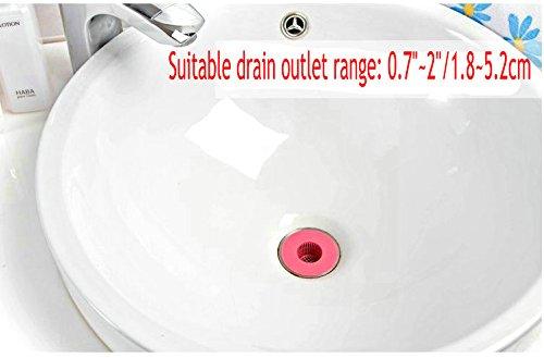 Kitchen Bath Sink Strainer Filter Net Drain Hair Catcher Stopper (Pack of 6) (Blue)