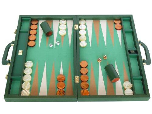 Leather Backgammon Set - Microfiber Playing Surface 23