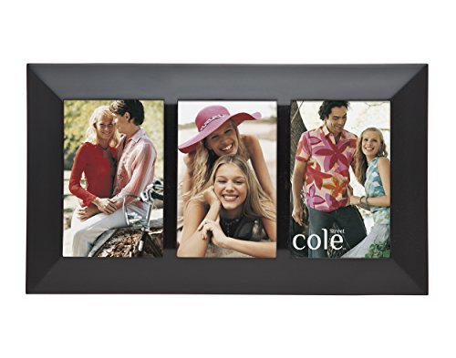 Philip Whitney 3 Opening 4x6 Photo Black Wood Collage Picture Frame by Philip Whitney
