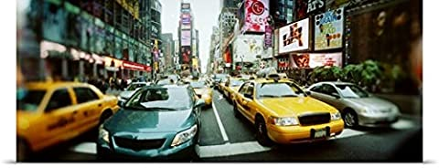 Great BIG Canvas Poster Print entitled Traffic on a road Times Square Manhattan New York City New York (72 Hours New York Times)