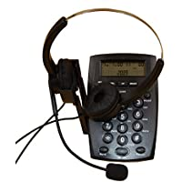 URBEST® FSK/DTMF Call Center Dial Pad Telephone Desk Phone with Backlight Tone Dial Key Pad & REDIAL- Caller ID Display, Headset for Two Ears