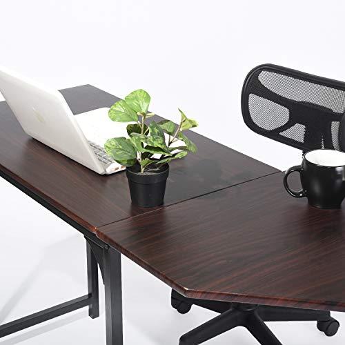 GreenForest L Shaped Desk Home Office Corner Computer Desk PC Laptop Study Table Workstation, Espresso by GreenForest (Image #5)