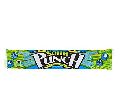 SOUR PUNCH BLUE RASPBERRY STRAWS, Case of 6 by DollarItemDirect (Image #3)