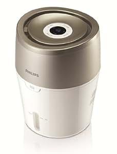 Philips HU4803/01 - Humidificador con tecnología NanoCloud de evaporación inteligente y control automático, tamaño de habitación recomendada 25 m², color beige y blanco
