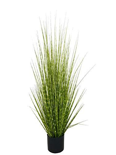(Home Decor Artificial Zebra Grass Potted Plant Fake Grass with Black Plastic Pot 48