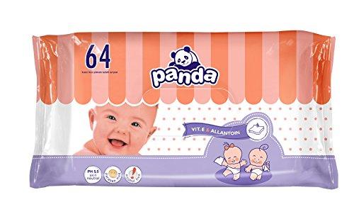 Panda Feuchte Tücher für Babys 64 Stück, 8er Pack (8 x 64 Stück)