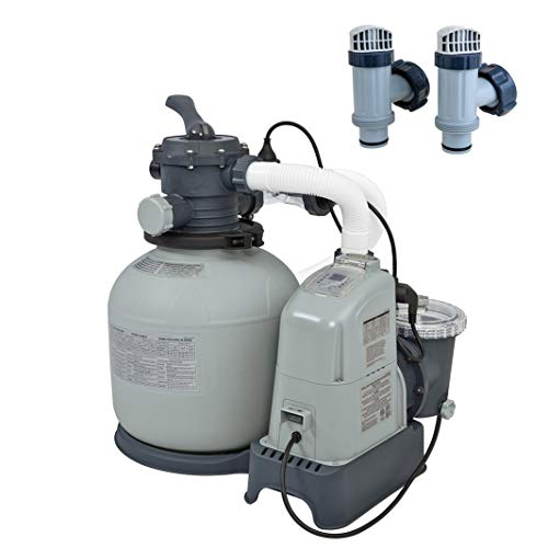 (Intex Above Ground Pool 1600 GPH Saltwater System & Sand Filter Pump & Valves)