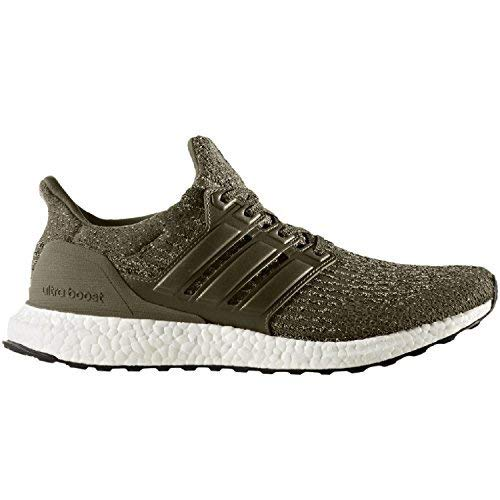 adidas Ultraboost M Mens Running Trainers (UK 6.5 US 7 EU 40, Olive Green White S82018) ()