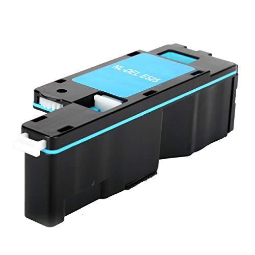 Dell E525W E525 525 (Cyan, 1-Pack) Compatible Toner Cartridge Use Dell Color Laser E525W Printer (E525 Cyan)