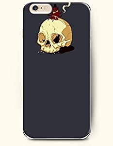 OOFIT New Apple iPhone 6 ( 4.7 Inches) Hard Case Cover - Smoke and Skeleton