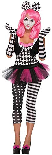 Forum Novelties Women's Harlequin Clown Opera Gloves, Black, White, Standard]()