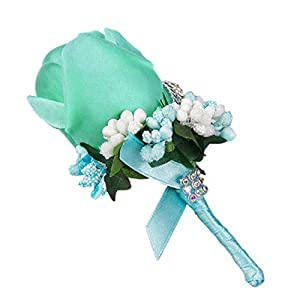 Freahap Handmade Corsage Wedding Rose Boutonniere with Pin Artificial Flowers for Wedding Party Man Suit Decoration 69