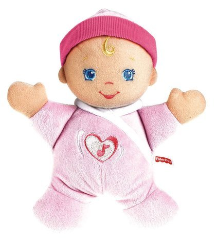 Toy   Play Fisher Price Brilliant Basics Hug N Giggle Baby  Doll  Soft  Squeeze  Talking  Safe  Battery Game   Kid   Child