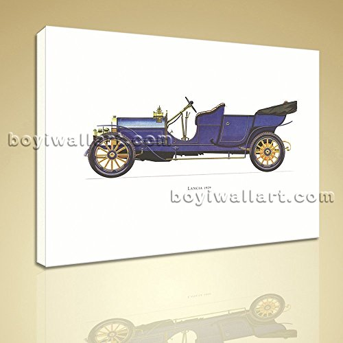 classical-vintage-car-lancia-1909-hd-picture-printed-on-canvas-wall-art-extra-large-wall-art-gallery