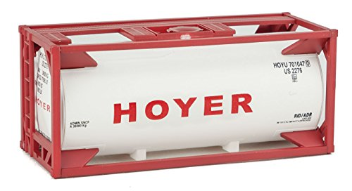 Walthers Ho Scale Container - Walthers HO Scale 20' Tank Shipping Container Kit Hoyer Company
