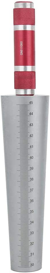 Simple to Use Wide Application Taper Aperture Gauge, Hole Tapered Ruler, for Thin-Walled Parts Plastic Tubes DIY Equipment DIY Hardware(30-45mm) 30-45mm