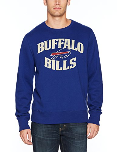 NFL Buffalo Bills Men's OTS Fleece Crew Distressed, Royal, Medium