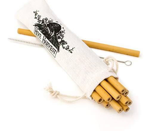 My Straw | Premium Reusable Bamboo Straws | Set of 12 | 8 inches | Dishwasher Safe