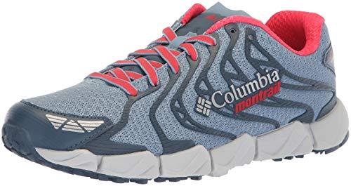 Image of Columbia Montrail Women's Fluidflex F.K.T. II Hiking Shoe, Dark Mirage, red Camellia, 9 Regular US