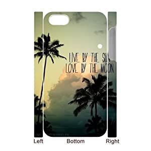 ZK-SXH - Sun and Moon Diy 3D Cell Phone Case for iPhone 4,4G,4S, Sun and Moon Personalized 3D Case