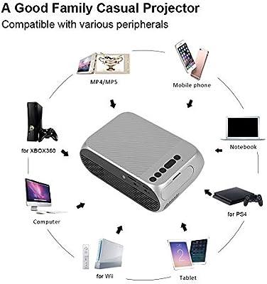 ASHATA Mini Proyector,Proyector LCD 320 * 240,Proyector Portátil ...