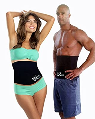 We The Planet the # 1 Rated Deluxe Waist Trimmer & Slimming Belly Wrap in the World, Creates Thermogenic Effect for Weight Loss, Provides Lumbar Compression & Support