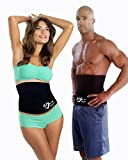 Neoprene Waist Trimmer & Slimming Belly Wrap for Women and Men – Thermo Trainer for Weight Loss, with Lumbar Support – Wear Under Clothes, by We The Planet