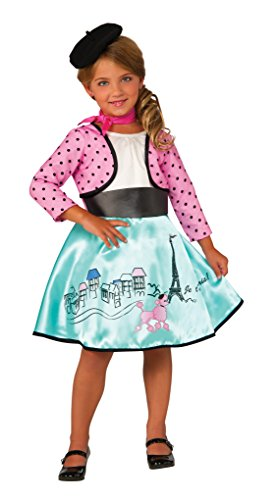 Parisian Costumes Girl (Rubie's Costume Petite Parisienne Deluxe Child Costume,)