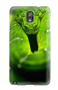 BvjaXIj2409vNeSp Case Cover Protector For Galaxy Note 3 Tree Snake On Branch Case