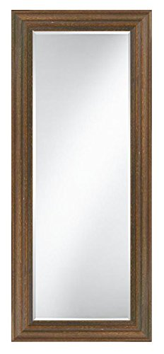 "Contemporary Brown Framed Leaner Floor Mirror (23"" X 65"") - Frame Material: Wood Mount Type: Free Standing Outside Dimensions: 23"" X 65"" - mirrors-bedroom-decor, bedroom-decor, bedroom - 41abKyQfryL -"