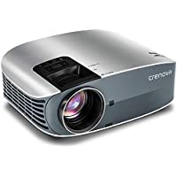 HD Projector, 2018 Upgraded (+80% Brightness) Crenova 200 1080P HD Home Portable Video Projector for PC/MAC/TV/DVD/Movies/Games/Outdoor with USB/Micro SD/AV/HDMI/VGA Input